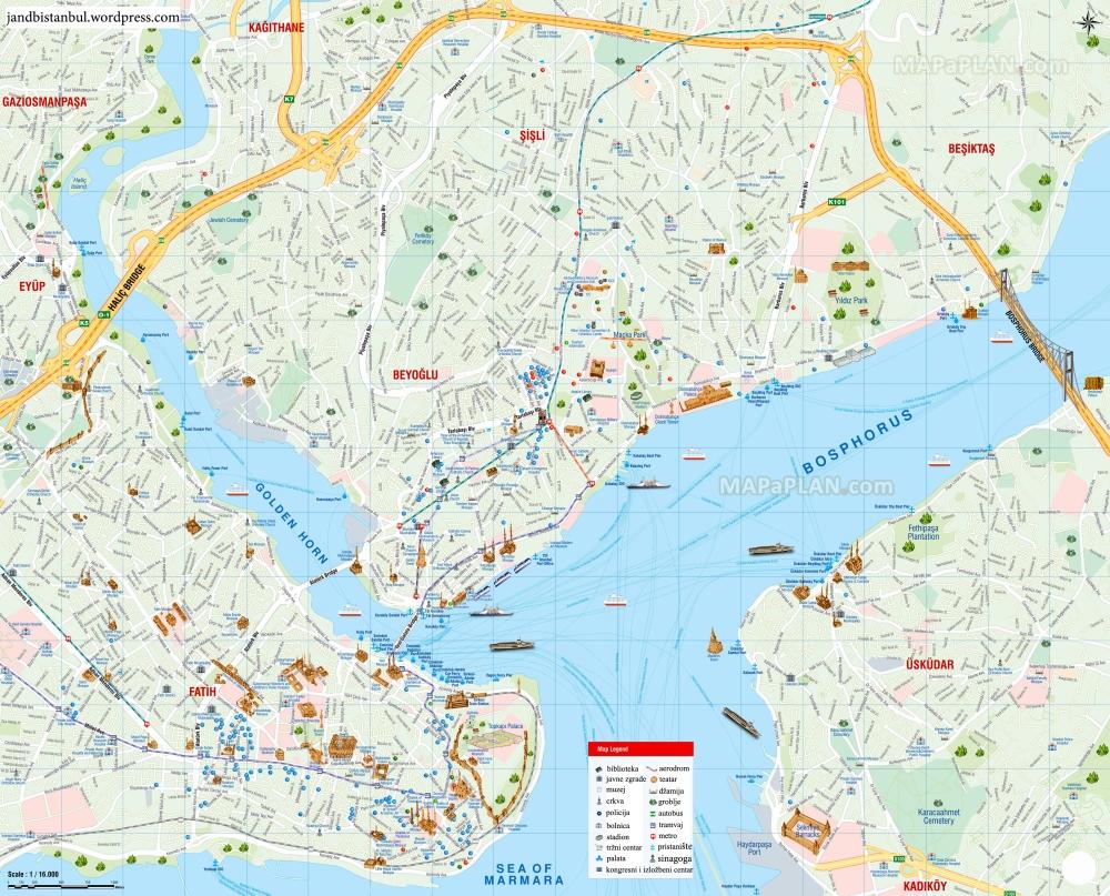 Turistička mapa javnih institucija u Istanbulu